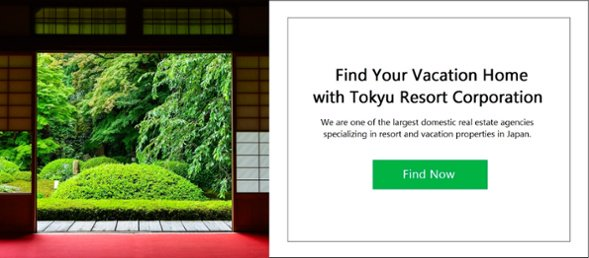 Find your vacation home with Tokyu Resort Corporation
