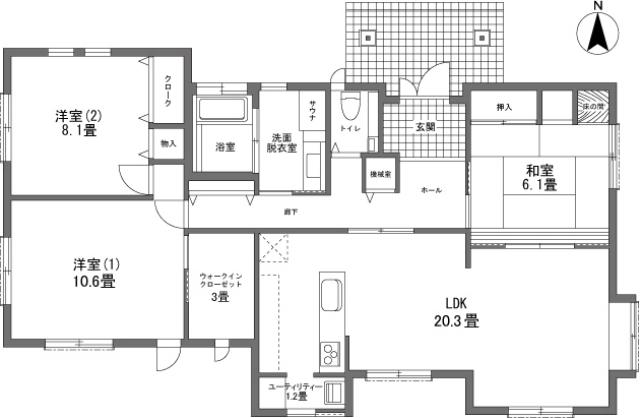 間取り図 - 貸別荘 コットンハウス